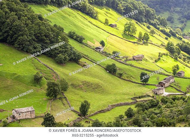 Valles Pasiegos near Vega de Pas, Cantabria, Spain