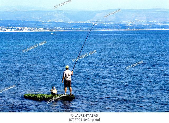 Lebanon, Tyre, fisherman