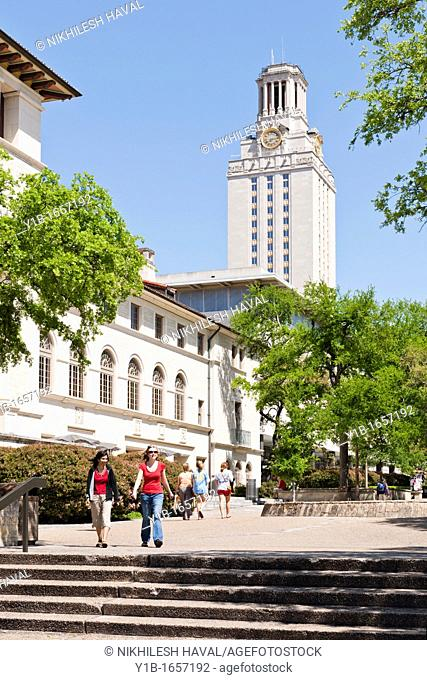 Main building, Tower, West mall, Texas University Austin, TX
