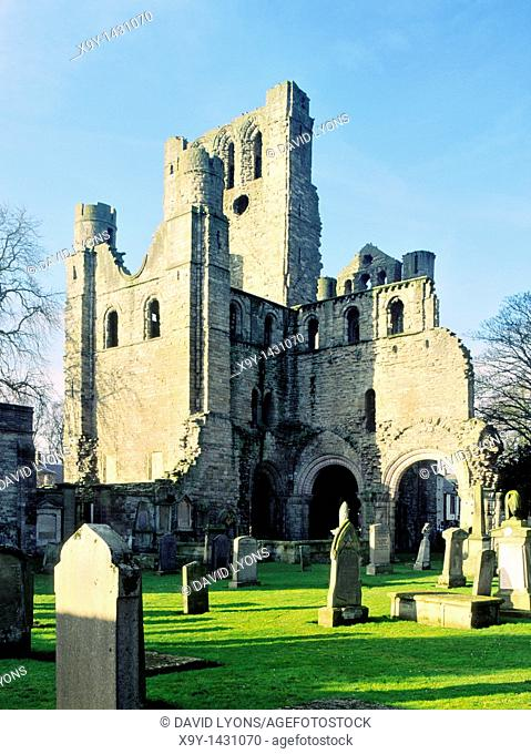 Kelso Abbey in the Borders Region of Scotland