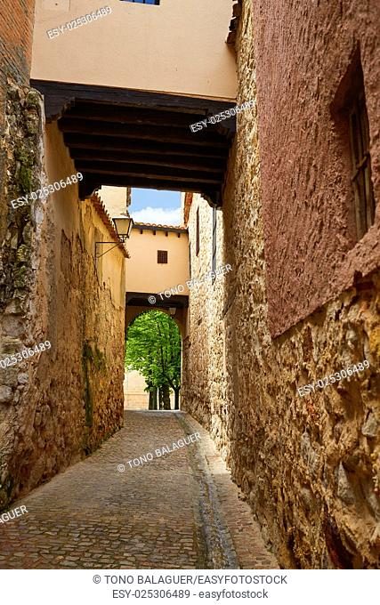 Zamora Calle Troncoso street arch in Spain
