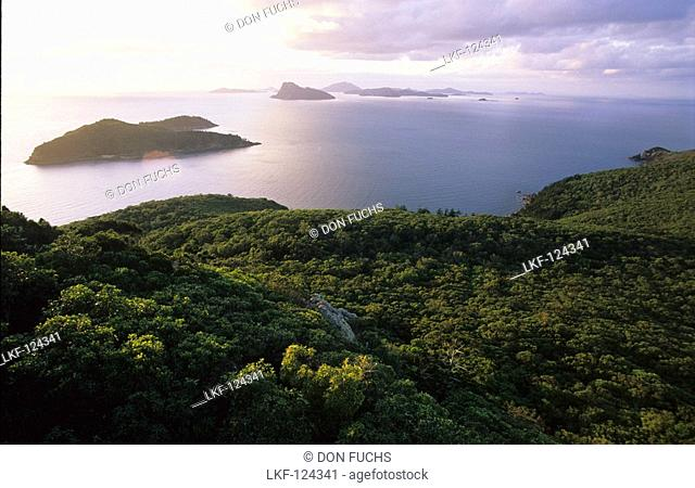 View from Passage Hill on Hamilton Island, Whitsunday Islands, Great Barrier Reef, Australia