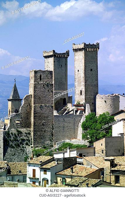 Cityscape, Pacentro, Abruzzo, Italy
