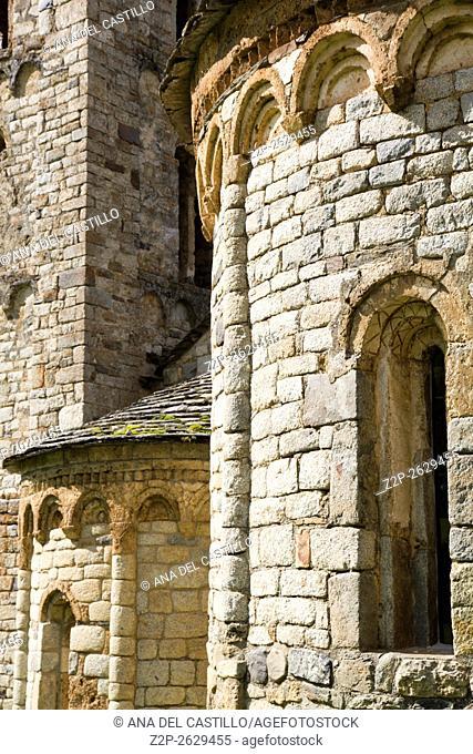 Romanesque church of Sant Climent de Taull, Catalonia, Spain. Apse detail
