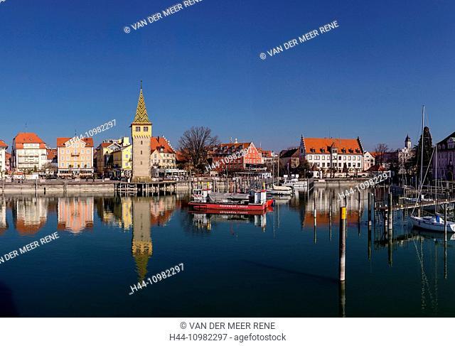 Lindau harbour at Lake Constance