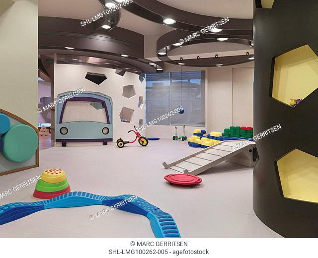Modern play room for small children