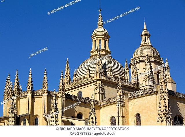 Nuestra Señora de la Asunción y de San Frutos Cathedral, Segovia, UNESCO World Heritage Site, Spain