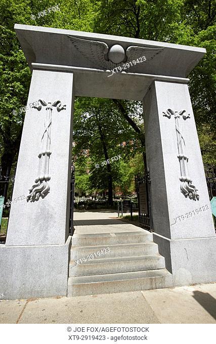 entrance gate to granary burial ground Boston USA