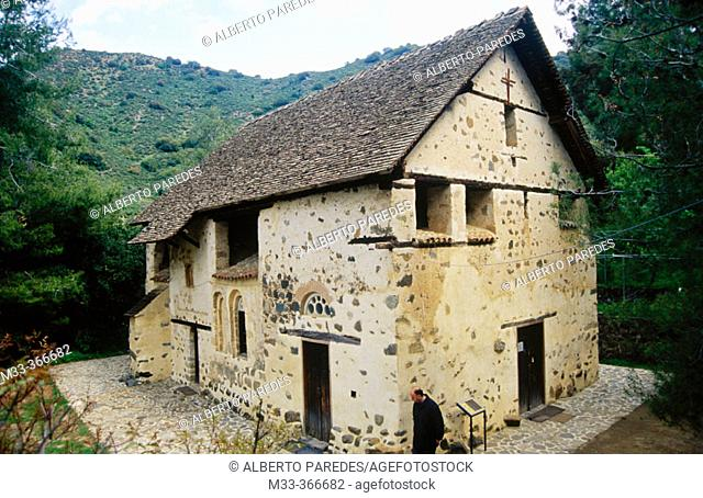 Agios Nicolaos Tes Stegis church. Troodos sierra. Cyprus