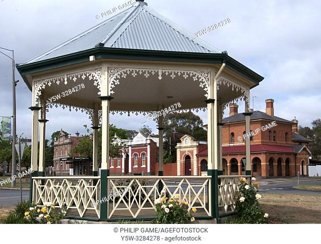 19th-century streetscape of Creswick, Victoria, Australia