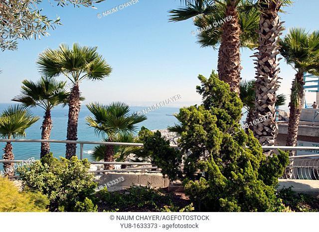 View on sea bay from Mount Carmel,Haifa,Galilee, Israel,Asia, Middle East