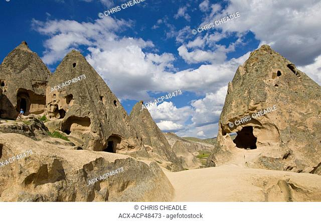Cave dwelling in Cappadocia, also Capadocia, Central Anatolia, largely in Nevsehir Province, Turkey