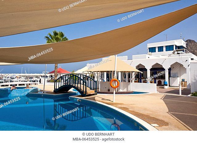 Arabia, Arabian peninsula, Sultanate of Oman, Muscat, harbour, pool