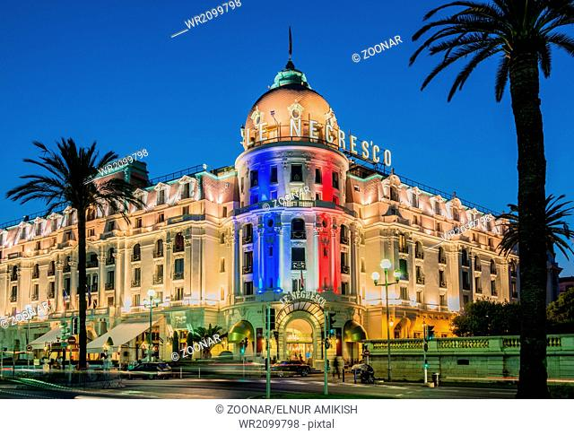 NICE - JULY 5: Negresco Hotel in Nice on July 5, 2013 in Nice. N