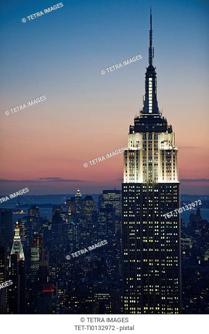 Sunset view of Empire State Building