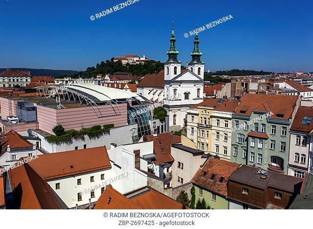 St. Michel Church, on a hilltop castle Spilberk, Brno, South Moravia, Czech Republic