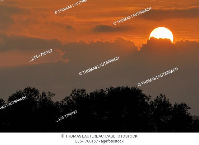 Sunset, Lower Saxony, Germany, Dörnten