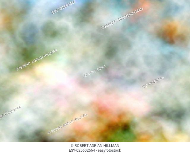 Abstract editable vector background of marbled smoke made using a gradient mesh