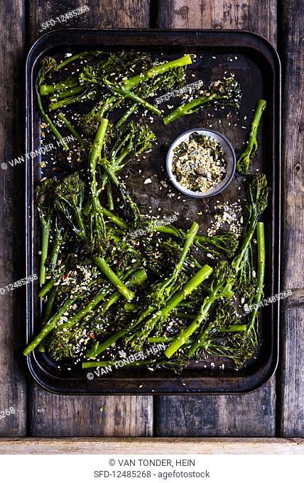 Broccolini with nori and salt