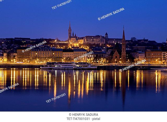 Buda skyline with Matthias Church and Fisherman's Bastion