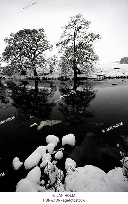 Glen Esk and North Esk river in winter