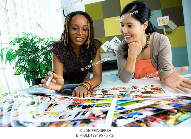 Businesswomen working together in office