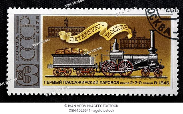 Drawing steam train Stock Photos and Images | age fotostock