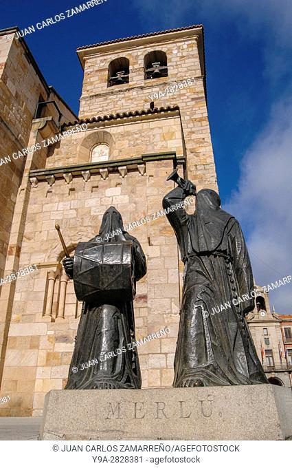 Zamora, San Juan Bautista Church, XIIth, XIIIth and XIVth Centuries, Plaza Mayor, medieval, romanesque, Zamora, Castilla y Leon, Spain