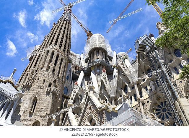 Church of Sagrada Familia by Antoni Gaudi, Barcelona, Spain