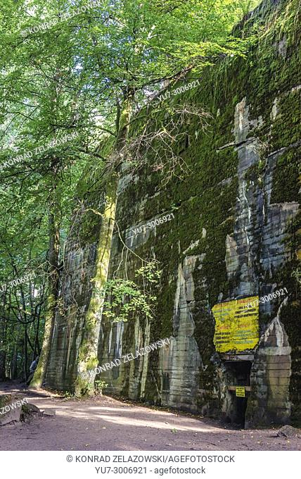 Hitler's bunker in Wolf's Lair, headquarters of Adolf Hitler and Nazi Supreme Command of Armed Forces in WW2 near Gierloz village, Poland