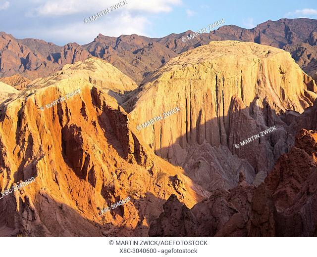Quebrada de las Conchas also called Quebrada de Cafayate. A canyon with colorful rock formations created by Rio de las Conchas
