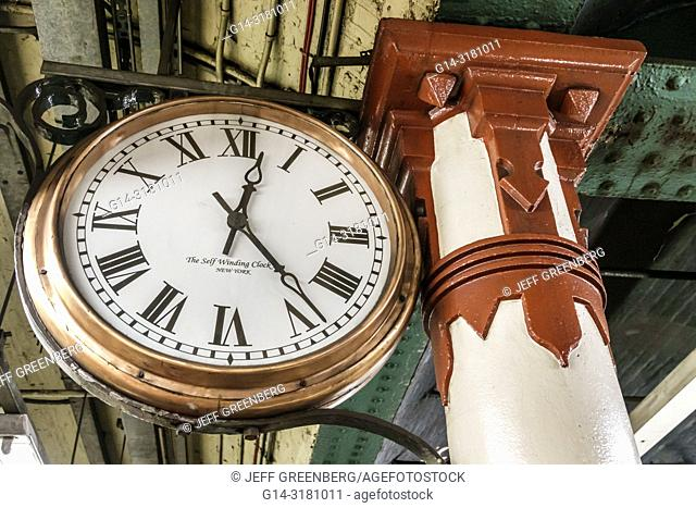United Kingdom Great Britain England, London, Embankment Underground Station, subway tube, public transportation, clock, self winding