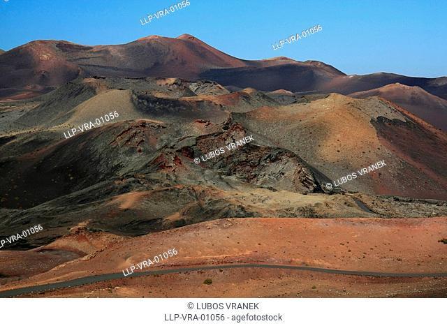Fire mountains, Lanzarote