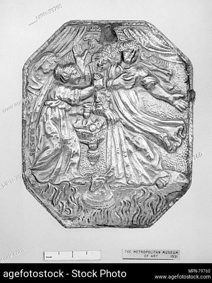 Mirror. Date: 1650-1700; Culture: French; Medium: Silver; Dimensions: H. 3-3/4 in. (9.5 cm.); W. 3-1/16 in. (7.8 cm.); Classification: Metalwork-Silver; Credit...
