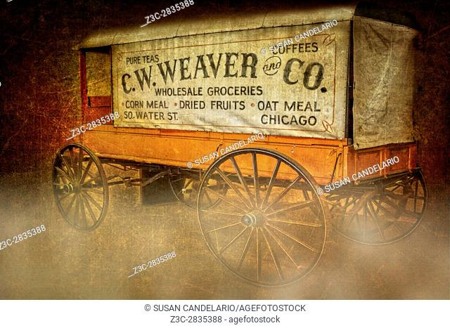 C. W. Weaver and Co. Wagon - Vintage wholesale groceries covered wagon from 50 Water Street in Chicago, Illinois. Back in the day you could buy groceries from...