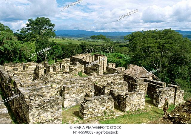 Ruins of ancient city (6th Century). Ocosingo valley, Chiapas, Mexico