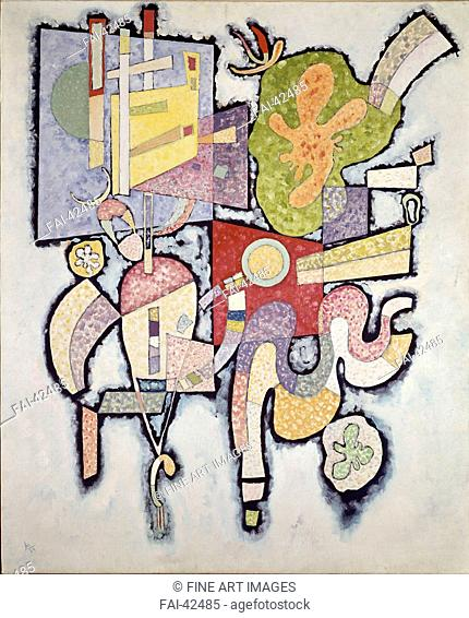 Simple Complexity (Ambiguity) by Kandinsky, Wassily Vasilyevich (1866-1944)/Oil on canvas/Abstract expressionism/1939/Russia/Musée national d'art moderne