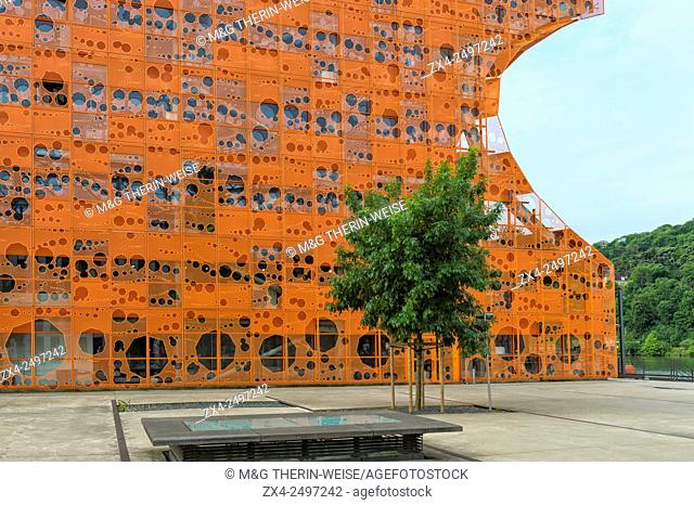 Orange Cube, La Confluence district, Lyon, Rhone, France