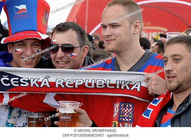 Fans during the Ice Hockey World Championship Group A match Czech Republic vs Canada in Prague, Czech Republic, May 4, 2015