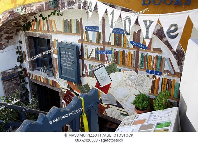 Library shop in Oia, Santorini