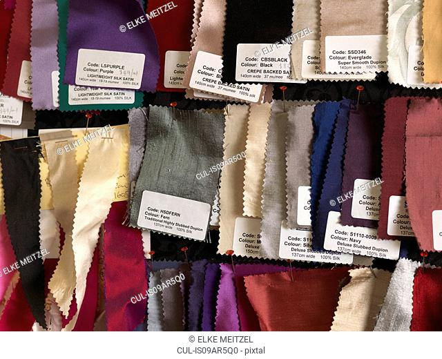 Assortment of fabric for corsets