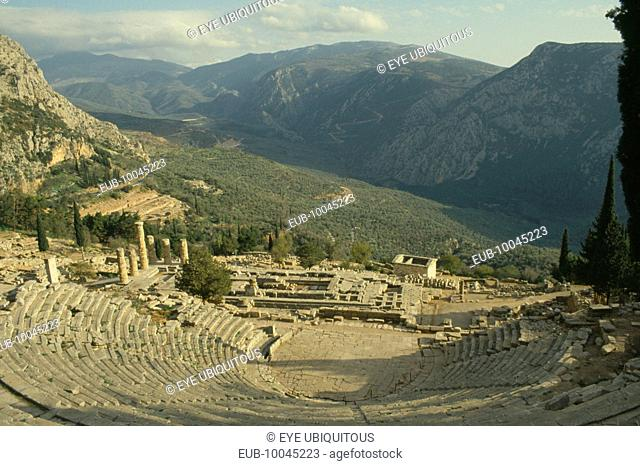 Amphitheatre and view over valley