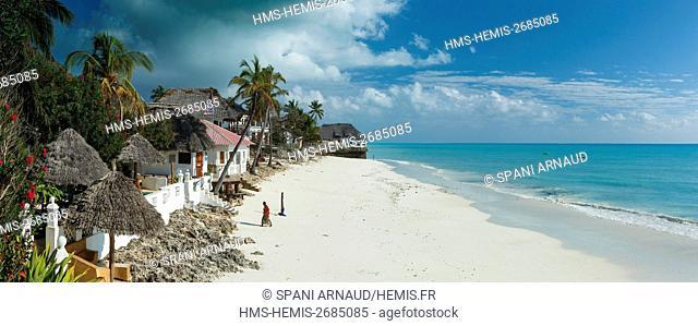 Tanzania, Zanzibar, Jambiani, seaside scenery and luxury hotel