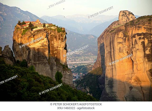 Monastery Agía Triáda, part of the Metéora complex of Eastern Orthodox monasteries, UNESCO World Heritage in the Plain of Thessaly, Greece