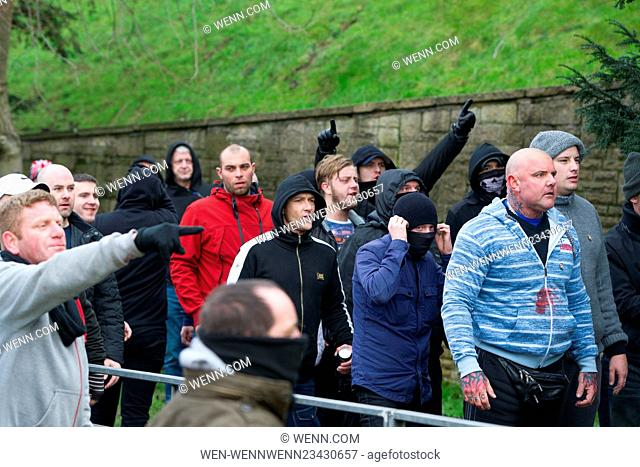 Clashes as anti-immigration groups including the National Front (NF) and the English Defence League (EDL) protest in Dover