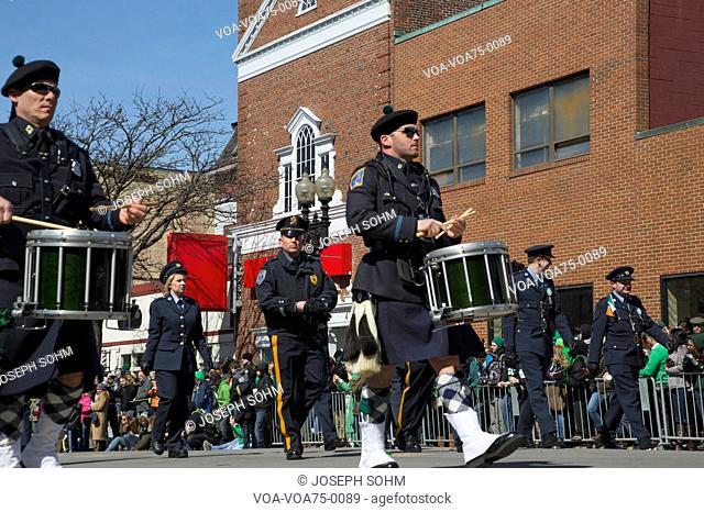 Boston Police, St. Patrick's Day Parade, 2014, South Boston, Massachusetts, USA