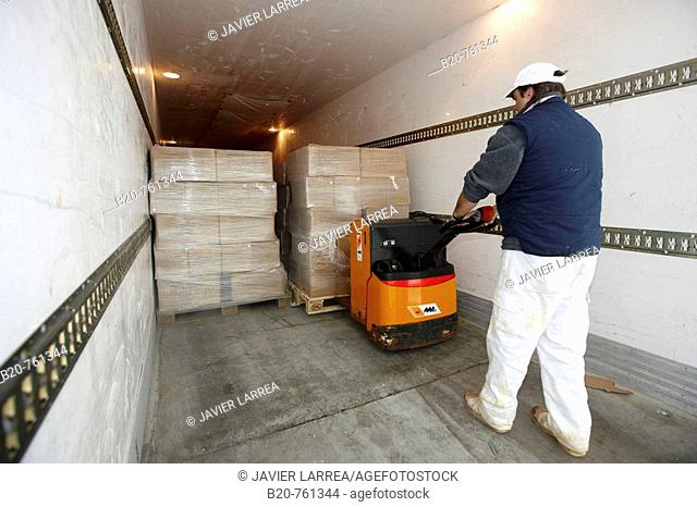 Refrigerated truck, refrigerated and frozen salt cod distribution