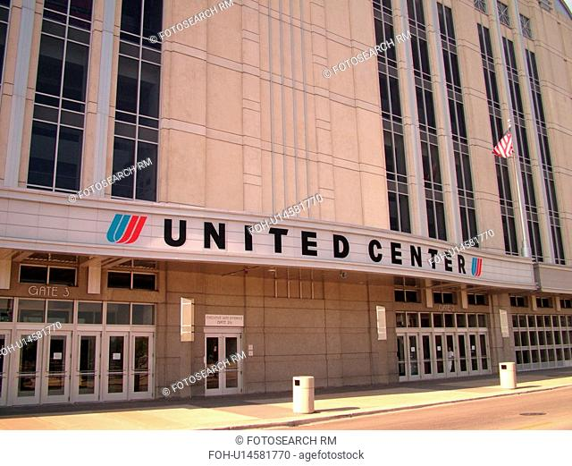 Chicago, IL, Illinois, Windy City, Downtown, United Center, NBA, NHL, Basketball, Ice Hockey, Bulls, Blackhawks