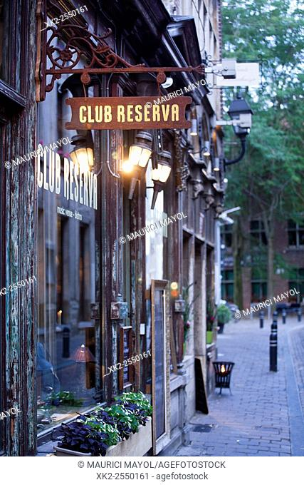 Club reserva bar in Jan Breydelstraat, Gent, Belgium