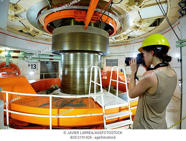 Turbine shaft. Itaipu Binacional Hydroelectric Power Plant. Generator of renewable clean energy. Itaipu Dam. Foz do Iguaçu. Paraná. Brazil